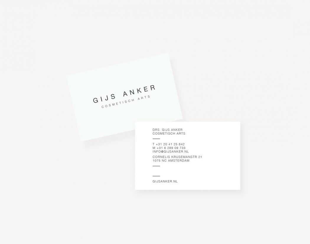 Gijs Anker ontwerp visitekaartje