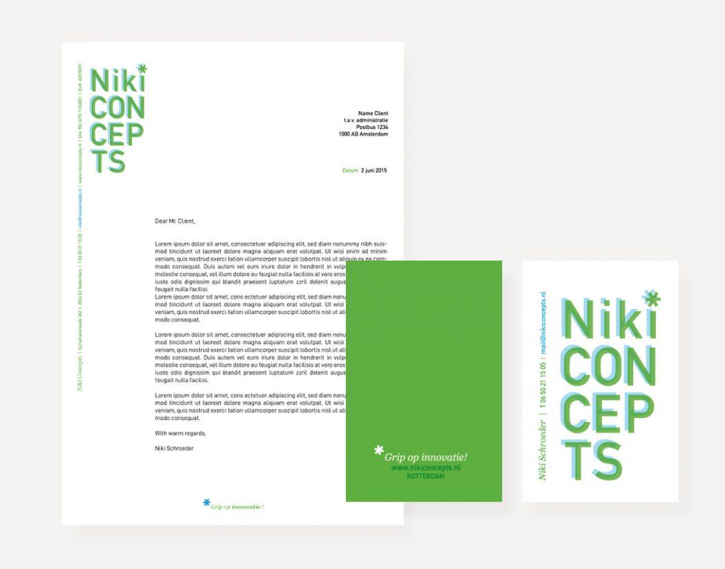 Niki Concepts logo letterhead design