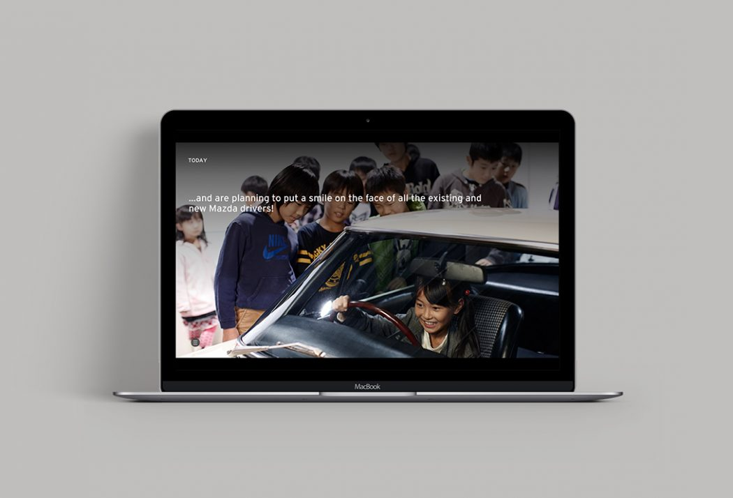 Mazda presentation storytelling