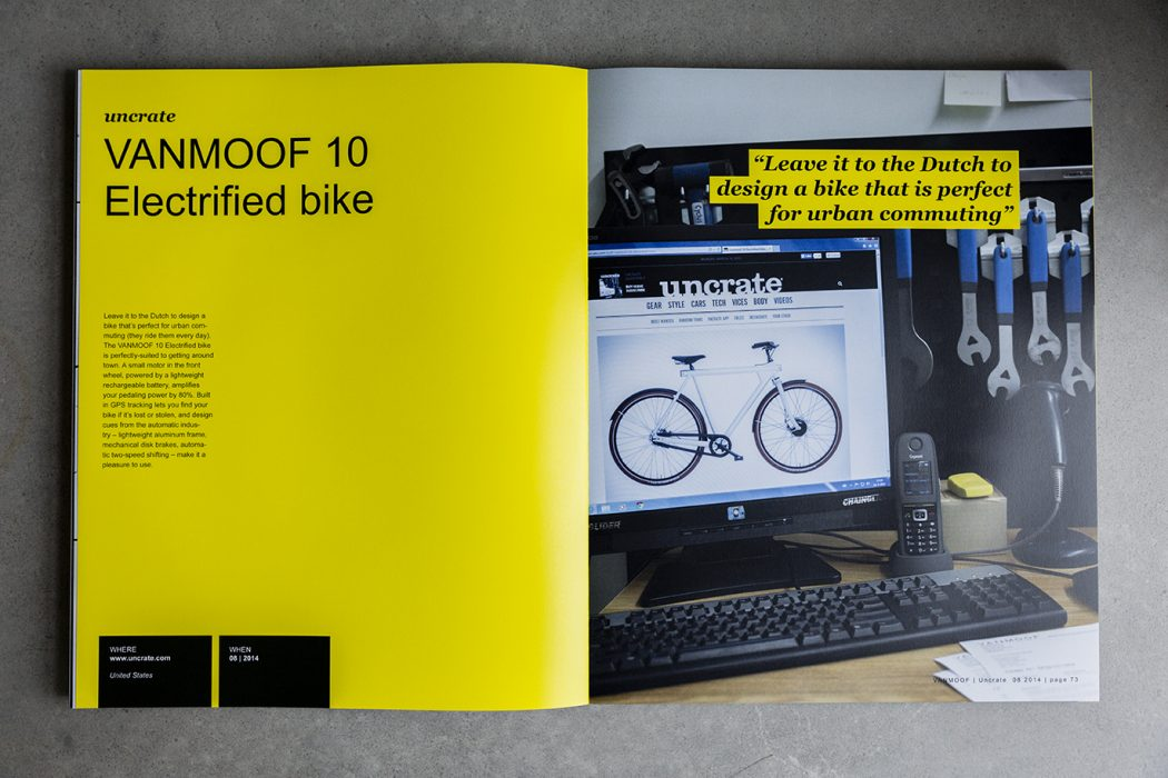 VANMOOF book design